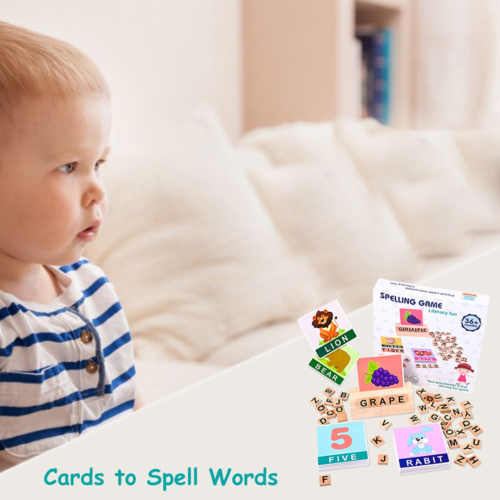 2021 New Wood Spelling Words Game Kids Early Educational Toys For Children Learning Wooden Toys Montessori Education Puzzle Toys topological game tower of hanoi iq intelligence developer 3d puzzle natural wood math game montessori montessori toys children s toys educational toys children toys montessori toys for children fidget toys