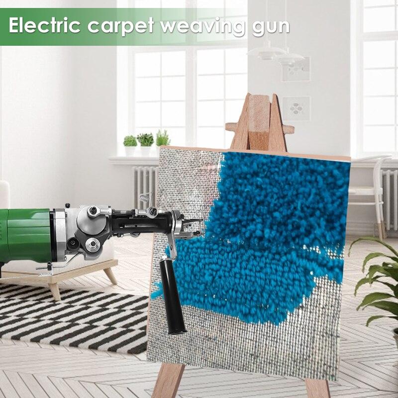 2400RPM Electric Manual Tufting Machine Carpet Weaving Tool Industrial Grade Tufting Gun 220V Cut Pile & Loop Pile European Plug enlarge