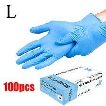 100 pièces bleu jetable mécanicien Nitrile gant tatouage Latex sans poudre atelier mécanicien gants nettoyage ménager