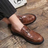 mens casual leather shoes men party oxford shoes non slip high quality brand wear resistant personality office business fashion