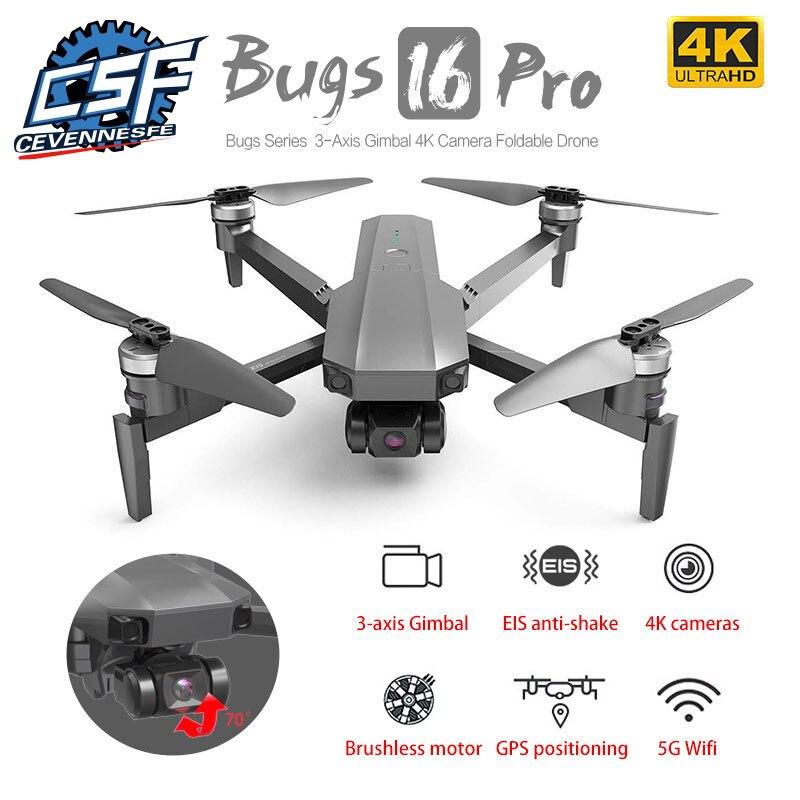 MJX Bugs B16 PRO B16 Pro With 4K Camera Drone Three-axis Gimbal EIS Anti-shake Professional FPV Drone VS SG906 Max F11 pro Dron