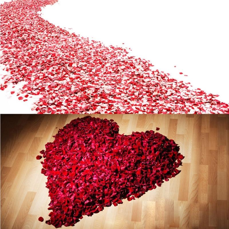 2000 vnt spalvingų dirbtinių rožių žiedlapių vestuvių petalas spalvingų šilko gėlių aksesuarų vestuvių rožė