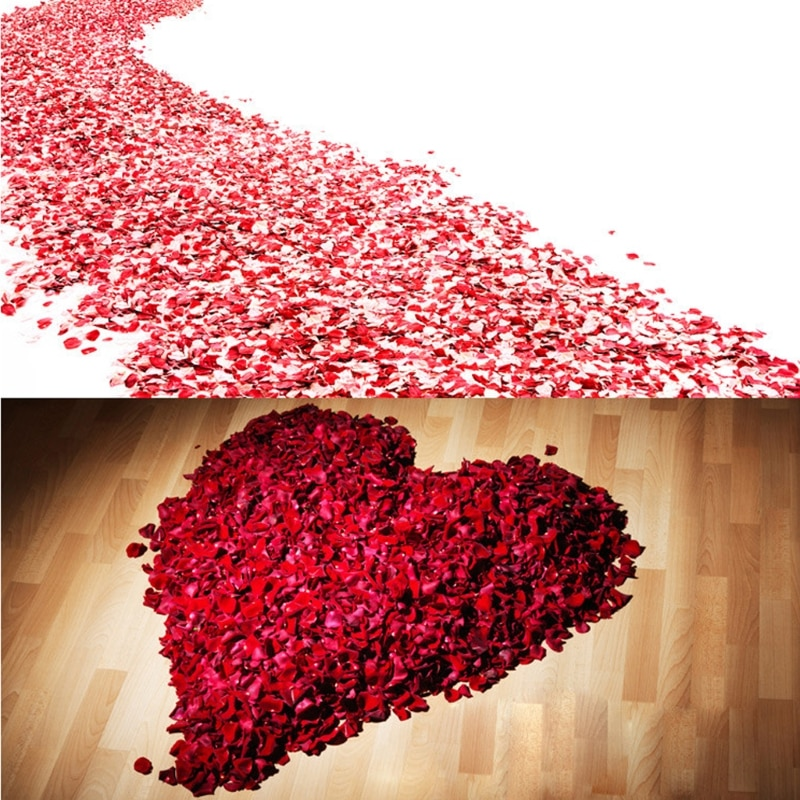 2000 бр. Цветни изкуствени розови венчелистчета сватбени петали цветни копринени цветни аксесоари сватбена роза