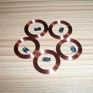 25MM 125KHz ID ler apenas TK4100 EM4100 bobina de chips COB antena 10 pçs/lote