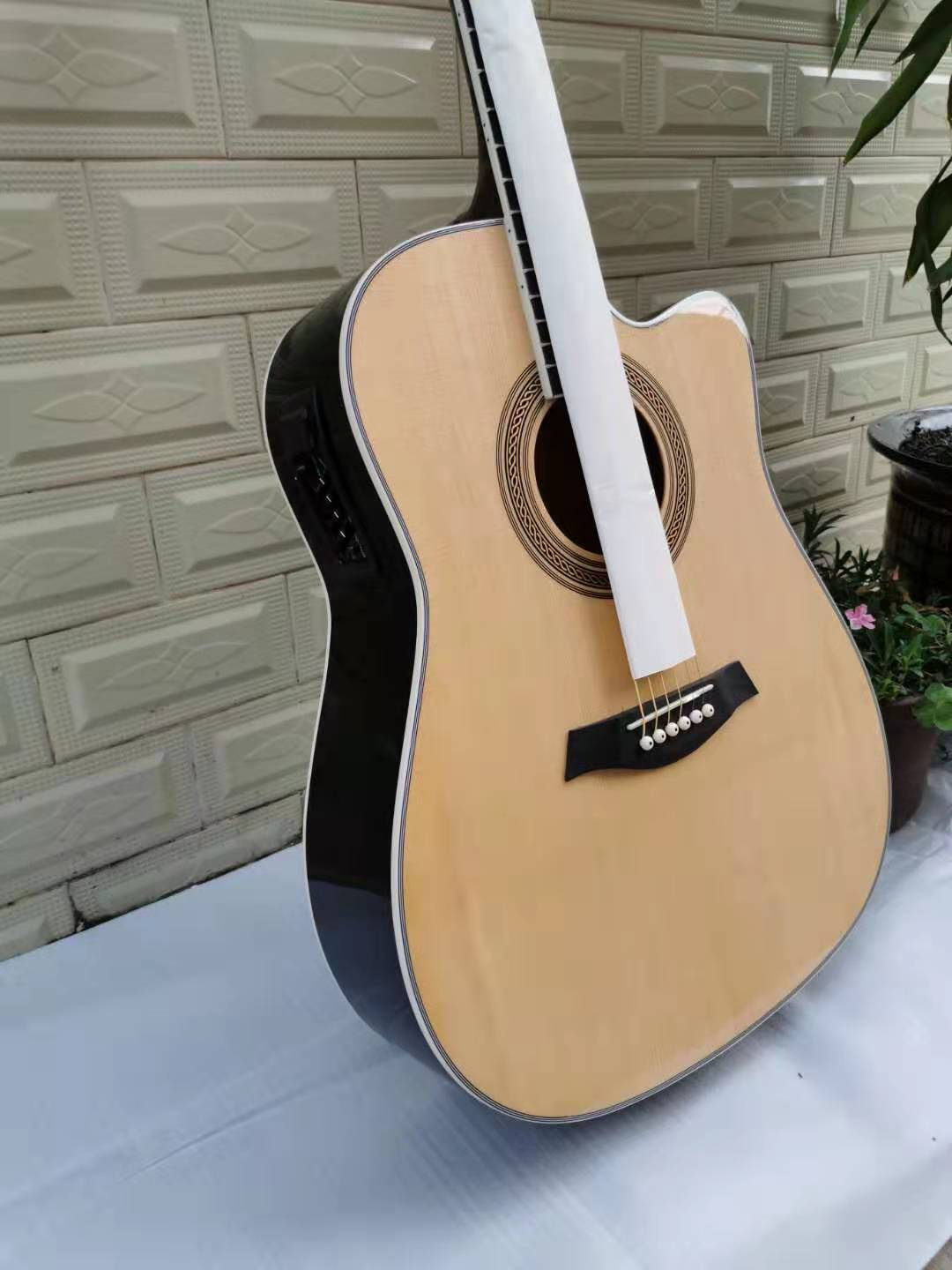 Aesthetic Gifts Electric Guitar Wood Bridge Hollow Body Electric Guitar High Quality Chitarra Elettrica Instruments DL6DJT enlarge
