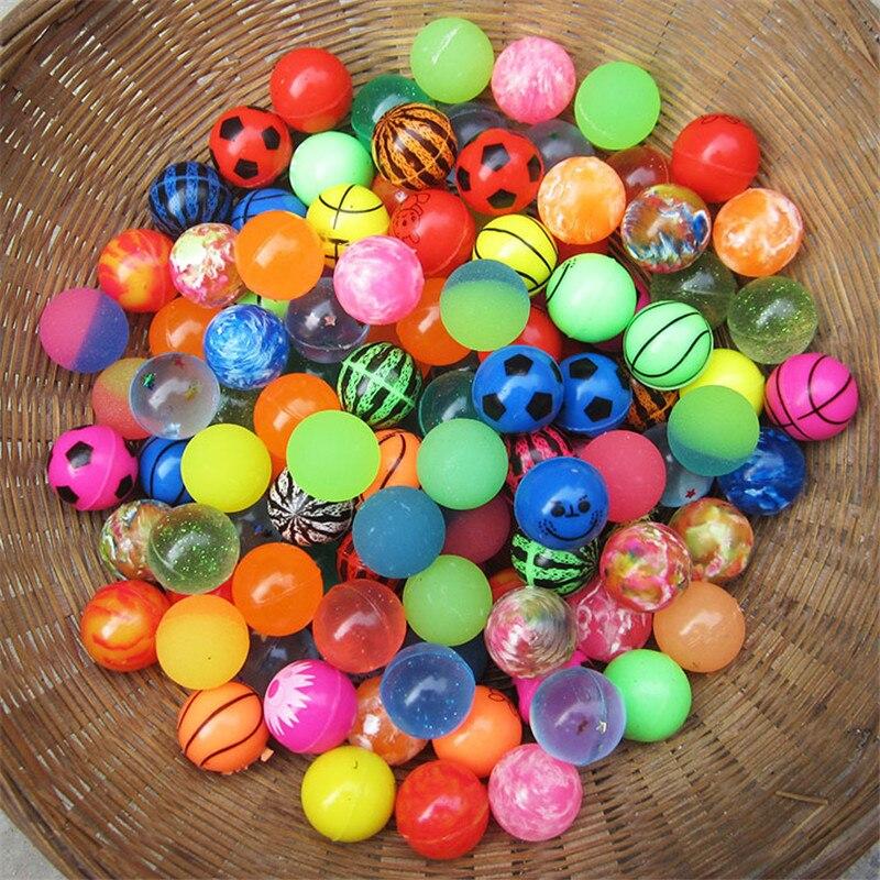 Смешные игрушечные мячи 30 шт./лот, смешанные надувные мячи, твердые плавающие попрыгующие Детские эластичные резиновые мячи, игрушка-подпры...