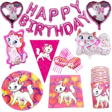 Marie Cat Theme Paper Straw Plate Tablecloth Balloon Party Supplies Kids Favor Birthday Party Weddin
