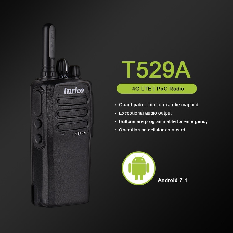 Inrico T529A Poc 4G Network Walkie Talkie Radio with BT Wifi Gps NFC Android Mobile Radio Long Range Mini Walkie Talkie