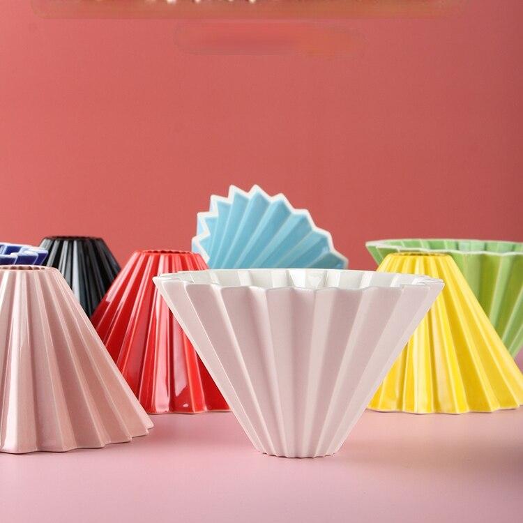 Caja de Filtro de café nórdico sencilla, accesorios de cerámica para cocina,...