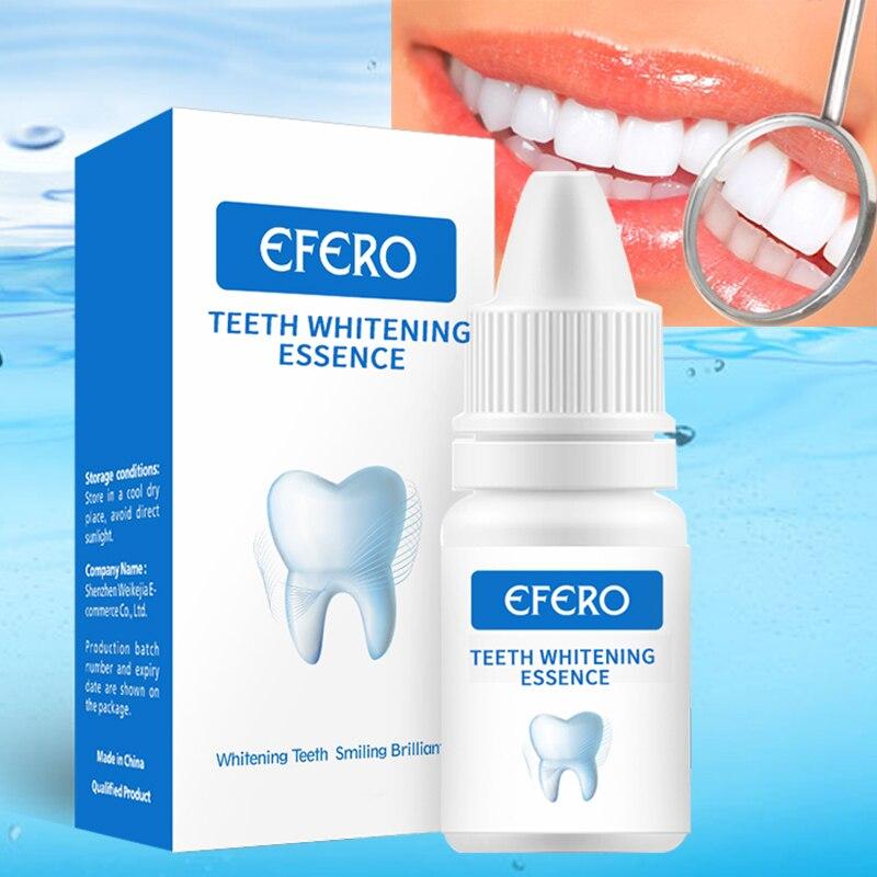 EFERO blanqueamiento de dientes polvo de esencia higiene Oral blanqueador de dientes blanco suero elimina las manchas de placa blanqueamiento de dientes herramientas dentales