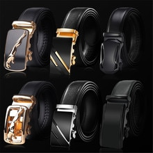 2021 High Quality belt cummerbunds Male Men Belt Automatic Genuine Leather Luxury Black Belt Men's B