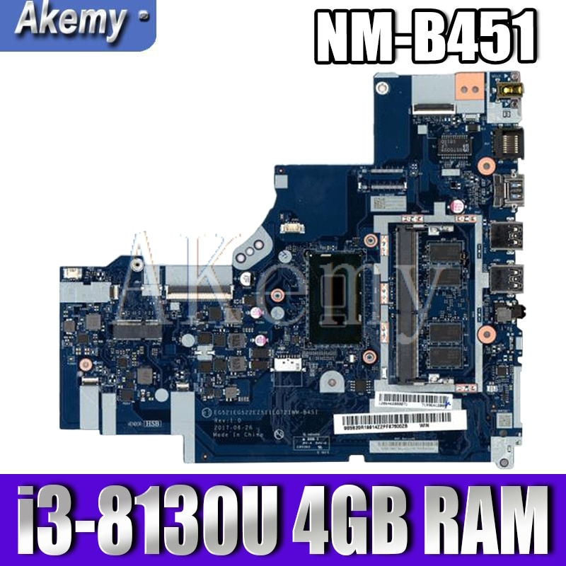 Akemy لينوفو ideapad 330-15IKB NM-B451 Laotop اللوحة NM-B451 اللوحة مع I3-8130U 4GB RAM