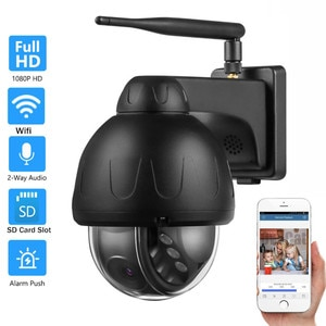 HD 5MP Dome Auto Tracking Wireless IP Camera Spinning Motion Triggered Alert Home Security Surveillance CCTV Network Wifi Camera