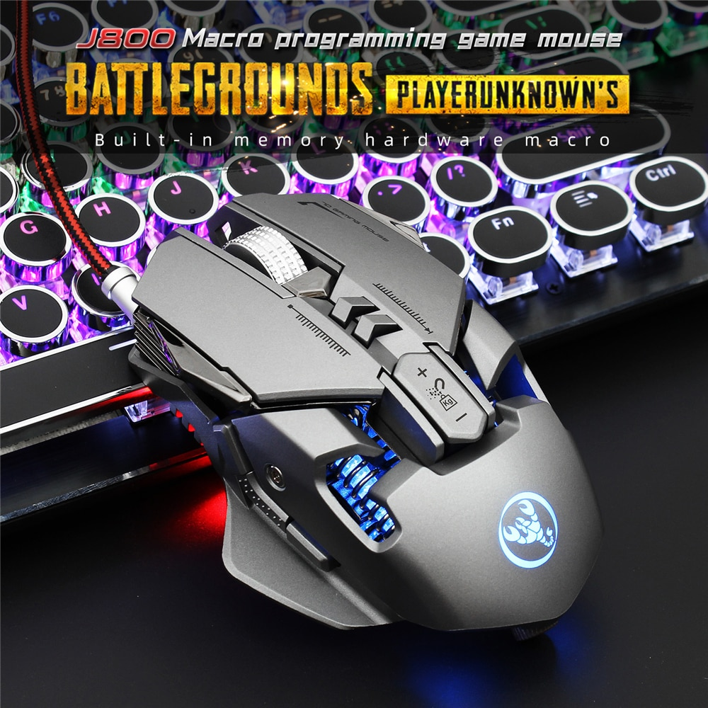 Durable Professional Gaming Mouse 6400DPI Full 7 Programmable Buttons RGB LED Optical USB Wired Game Mice for Laptop PC Gamer  - buy with discount