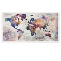 Peinture diamant theme carte du monde abstraite  broderie complete 5d  mosaique  graffiti  decoration de maison  diy bricolage