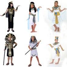 Umorden Halloween Kostuums Jongen Meisje Oude Egypte Egyptische Farao Cleopatra Prins Prinses Kostuum Voor Kinderen Kids Cosplay