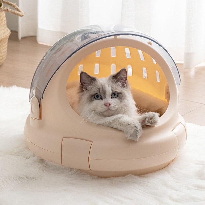 Bolsa de viaje portátil para mascotas, bolso de burbujas para perro y gato, domo, cápsula espacial aprobada, bolsa transpirable para mascotas al aire libre