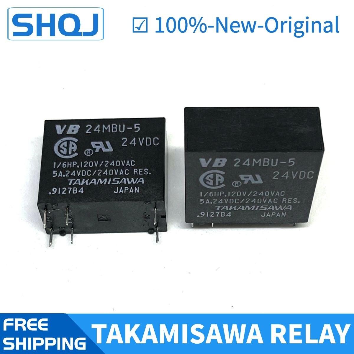 10 قطعة TAKAMISAWA التتابع VB24MB 24VDC DC24V VB 24MB العلامة التجارية الجديدة والأصلية التتابع