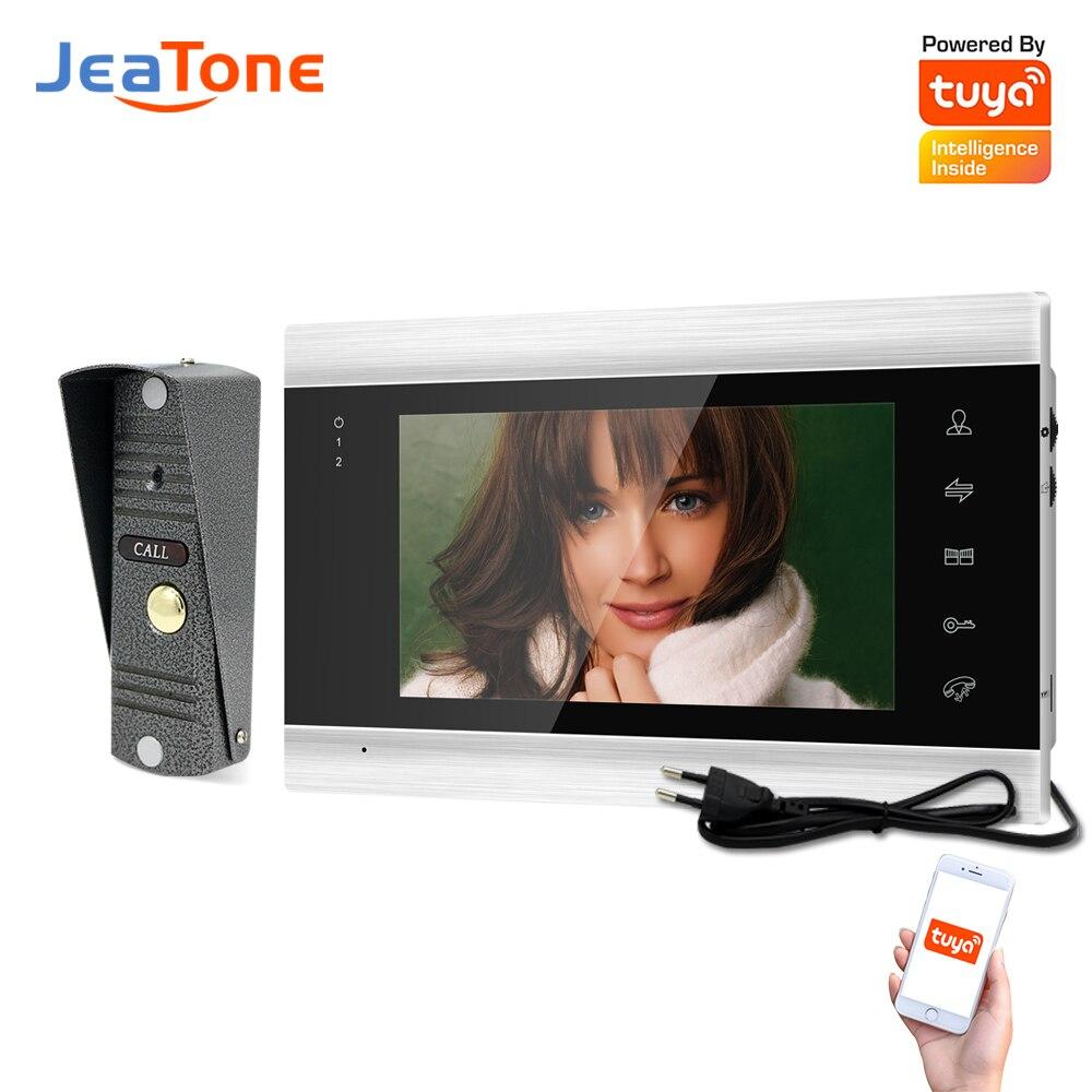 Jeatone الأمن واي فاي فيديو نظام اتصال داخلي دعم كشف الحركة والرؤية الليلية AHD720P الداخلية امدادات الطاقة المدمج في