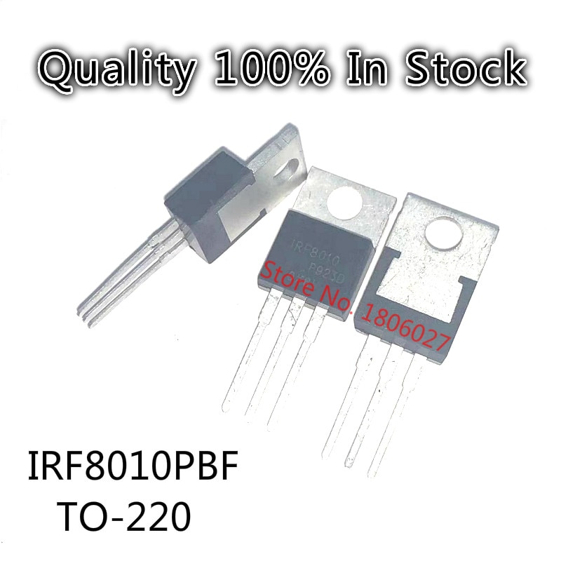 10PCS/LOT   IRF8010PBF IRF8010 100V 80A  TO-220 N-channel field effect transistor