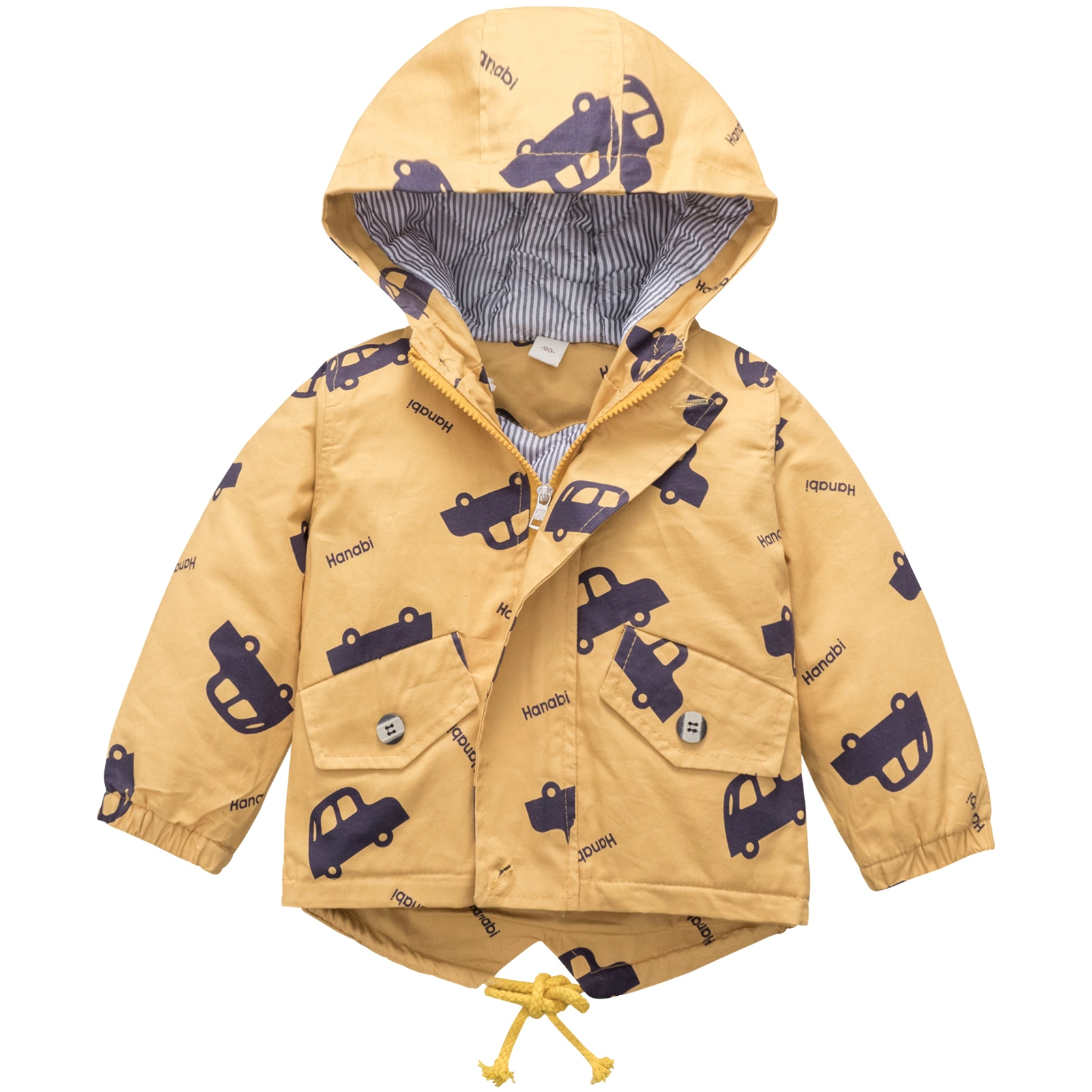 Boys Cartoon Jackets Casual Windproof Outerwear Autumn Winter Hooded Coats Kids Cotton Tops with Zipper and Pocket Long Sleeve