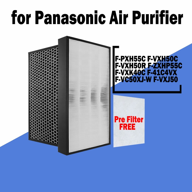 H13 Hepa and Active Carbon Filter for Panasonic 55C F-PXH55C F-VXH50C F-VXH50R F-ZXHP55C F-VXK40C F-41C4VX F-VC50XJ-W F-VXJ50 f