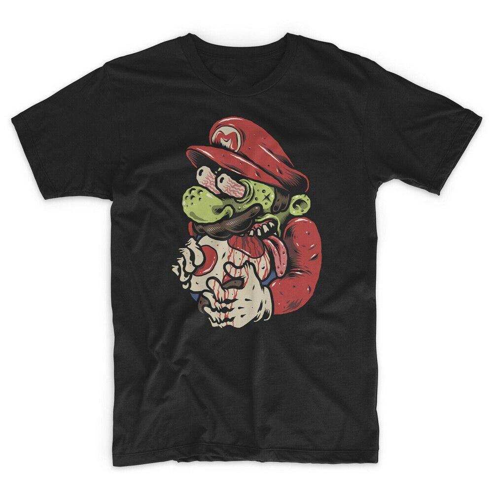 Camiseta Retro de Mario Zombie, camiseta con motivos de setas, drogas, Luigi, NES, SNES, juego de jugador, camiseta gráfica retro Zelda