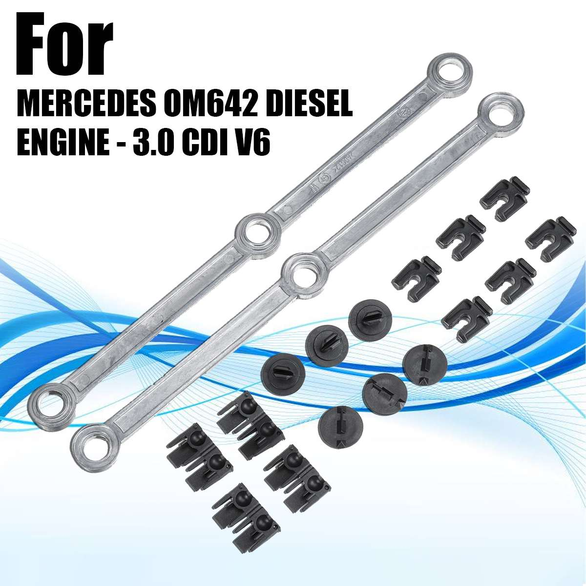 Accionador de colector de entrada Bielas para Mercedes OM642 V6 3,0 CDI W164 C219 Kit de herramienta de la reparación