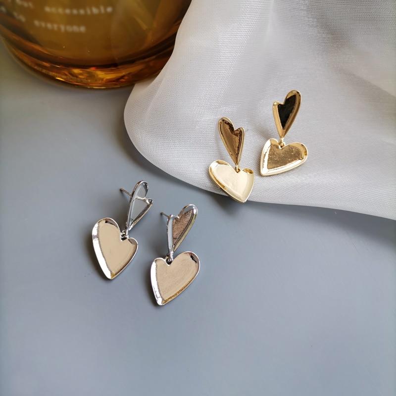Mihan S925 needle Modern Jewelry Heart Earrings Popular Design Sweet Metal Love Drop For Women Party Gifts
