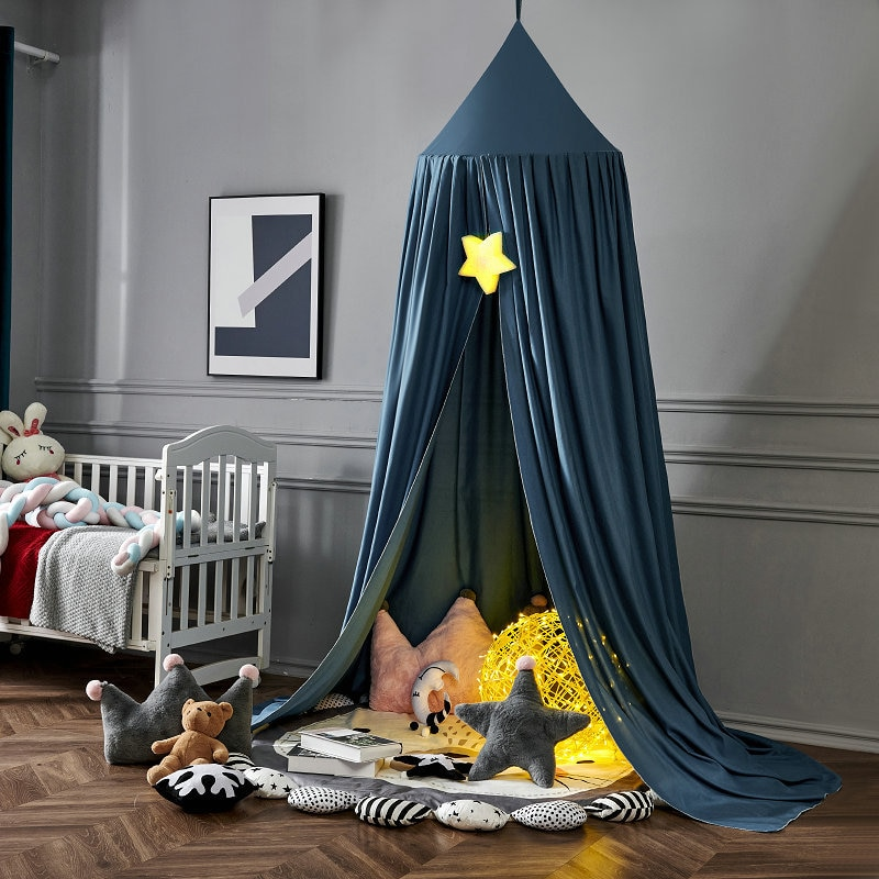 Baby Bed Canopy Mosquito Net for Kids Girls Princess Hung Dome Curtain Children Play Tent Room Decoration