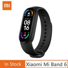 Оригинальный фитнес-браслет Xiaomi Mi Band 6, фитнес-трекер, пульсометр, оксиметр в крови, спортивный браслет для плавания