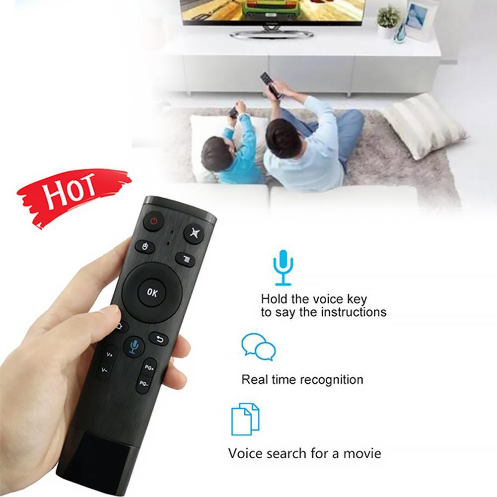 Alta qualidade, bluetooth 2.4ghz wifi, voz remoto, tv, controle remoto, mouse, receptor usb para android box smart tv mini pc para computador, mini pc