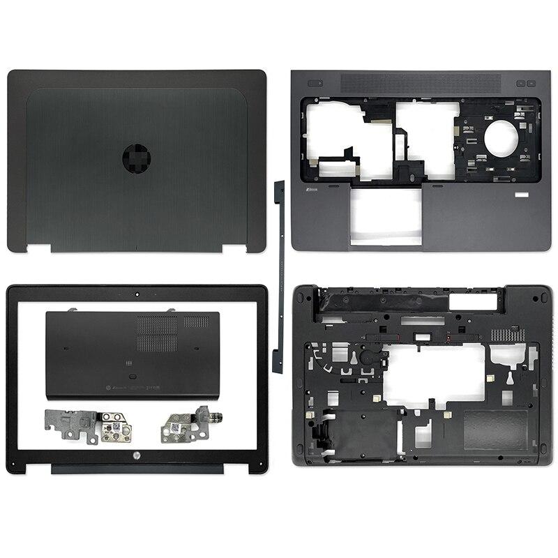 15.6 بوصة جديد ل HP ZBOOK 15 G1 G2 سلسلة محمول LCD الغطاء الخلفي الإطار الأمامي Palmrest غطاء سفلي مفصلات أسفل الباب الأسود