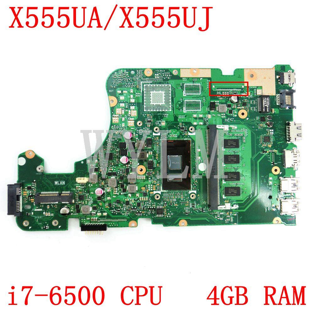 X555UA i7-6500 CPU 4GB RAM اللوحة ل ASUS X555U F555U X555UF X555UB X555UQ X555UA X555UJ اللوحة المحمول 100% اختبار موافق