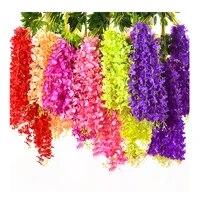 Guirlande de fleurs artificielles  Simulation de glycine  pour mariage  maison  bureau  fete  jardin  decoration artistique artisanale
