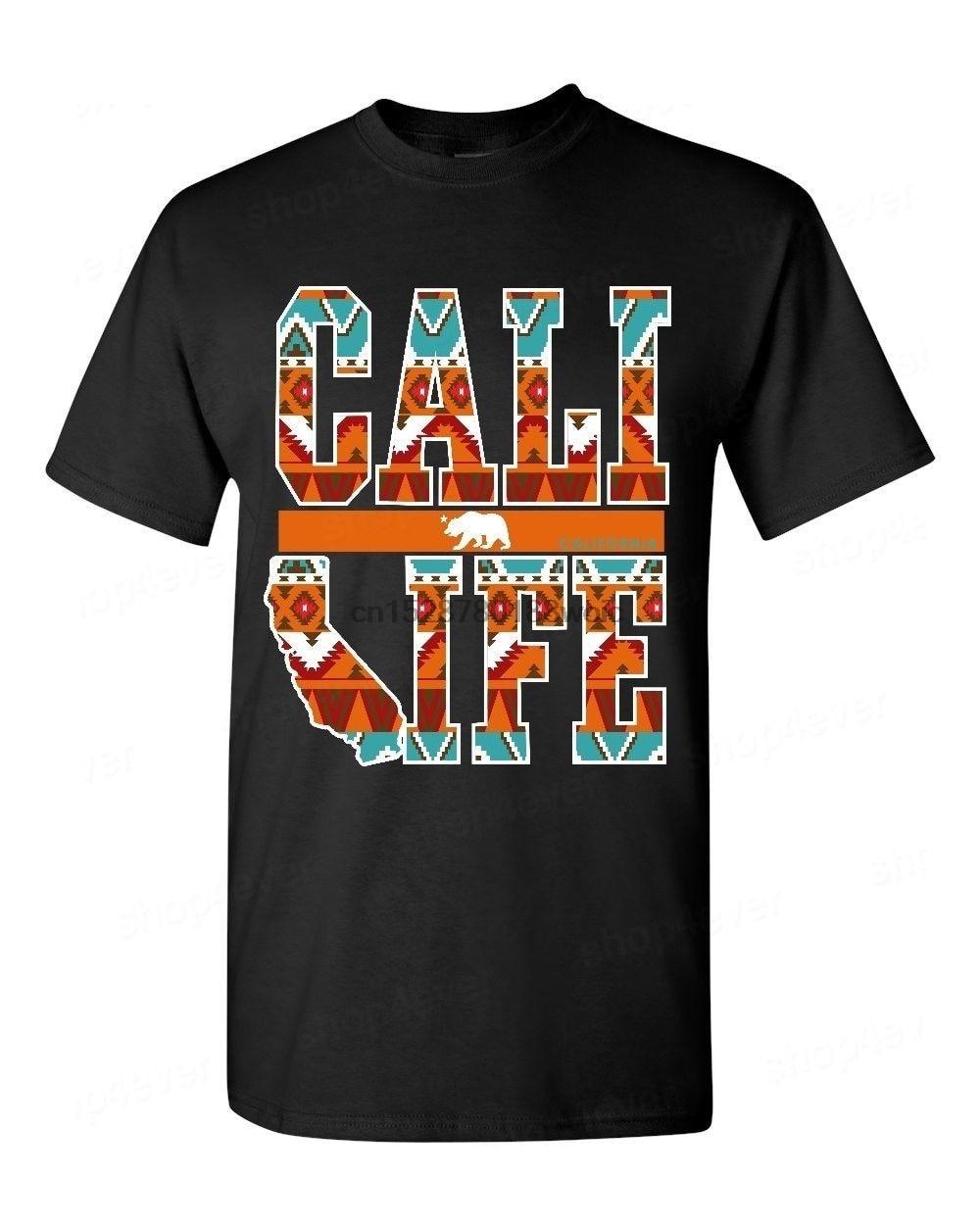 Nueva marca de moda T camisas Cali vida diseño indio T camisa estado nativo de sueño Catcher camiseta California impresión camiseta