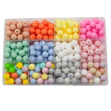 Cute-Idea 50PCs/LOT 9/12MM Silicone Beads colorful Baby Teether Personalized DIY Toddler Toy Baby Pr