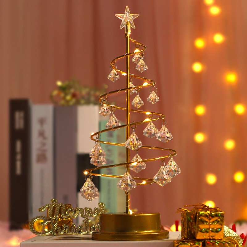 skidproof christmas lighting tree pattern rug Christmas Decoration for Home Crystal Xmas Tree Led Lights Wedding Garland Fairy Light Holiday Lighting Christmas Light New Year