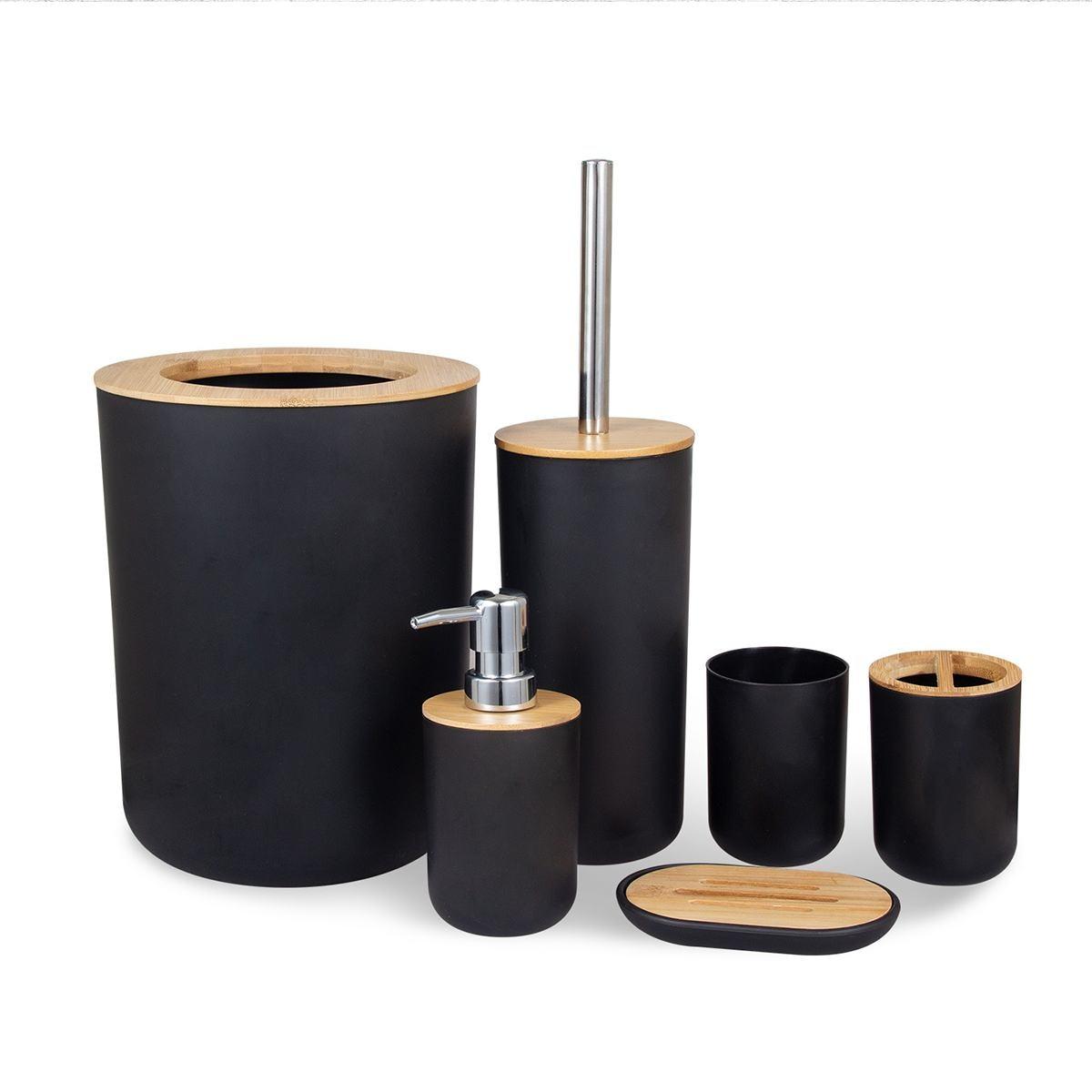 6 unids/set de cepillos de dientes de madera de bambú vaso de cepillos de dientes taza recipiente para emulsión baño accesorios de cocina