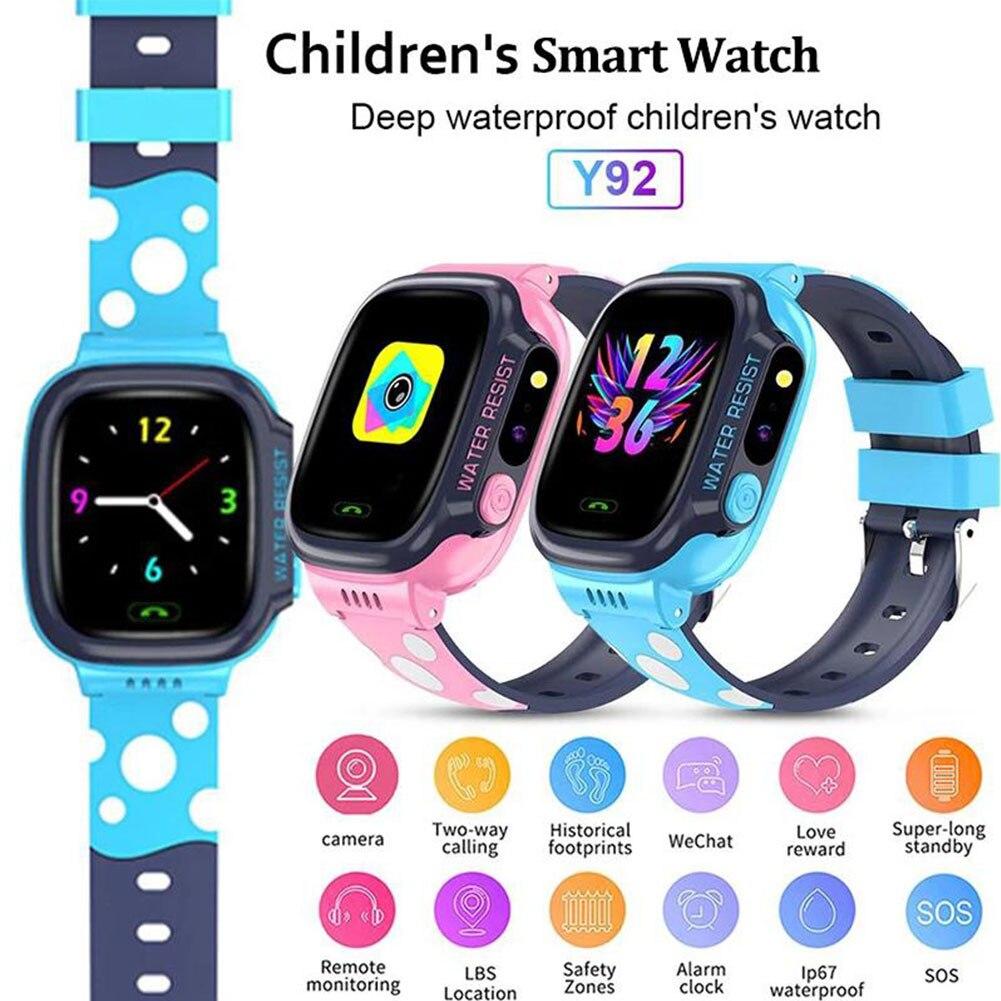 novas criancas y92 miudo relogio inteligente gps sim criancas relogio inteligente