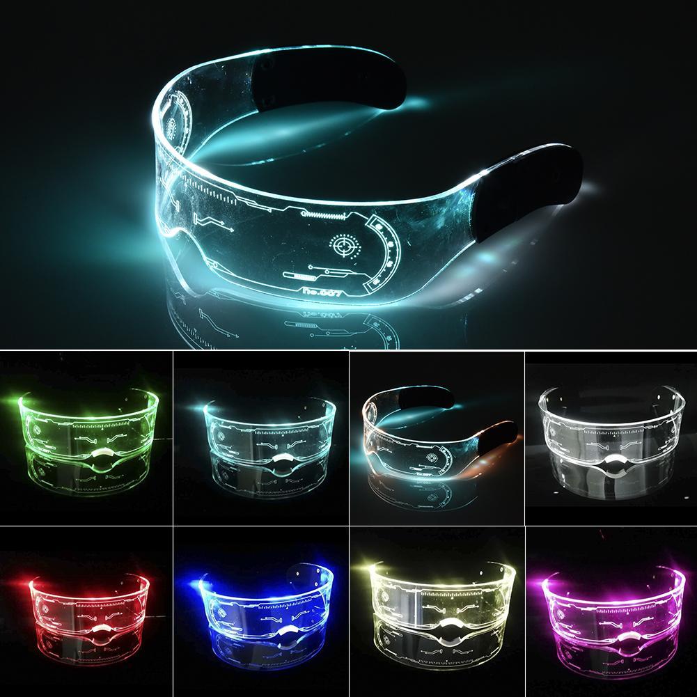 LED Glasses EL Wire Neon Party Luminous LED Glasses Light Up Glasses Rave Costume Party Decor DJ Sun