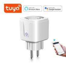 Enchufe inteligente Wifi Tuya Smart Life tomas eléctricas 15A adaptador de enchufe para la UE Control de voz remoto temporizador función Alexa Google Home