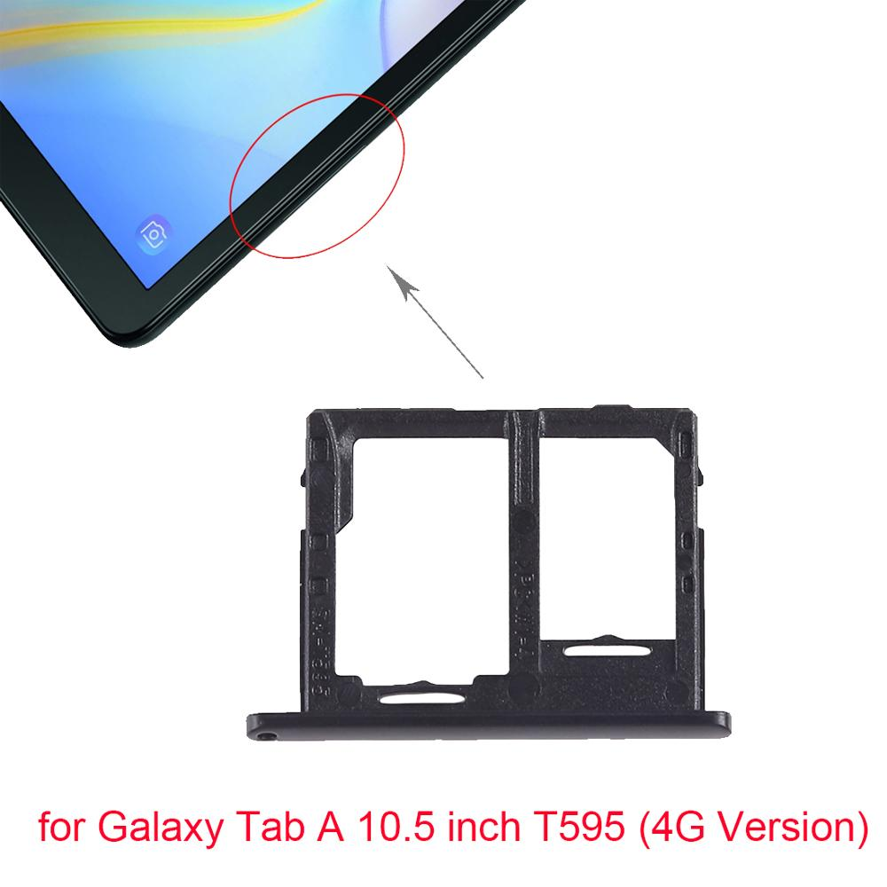 5pcs/lot For Samsung Galaxy Tab A 10.5 inch T595 SIM Card Tray + Micro SD Card Tray (4G Version)