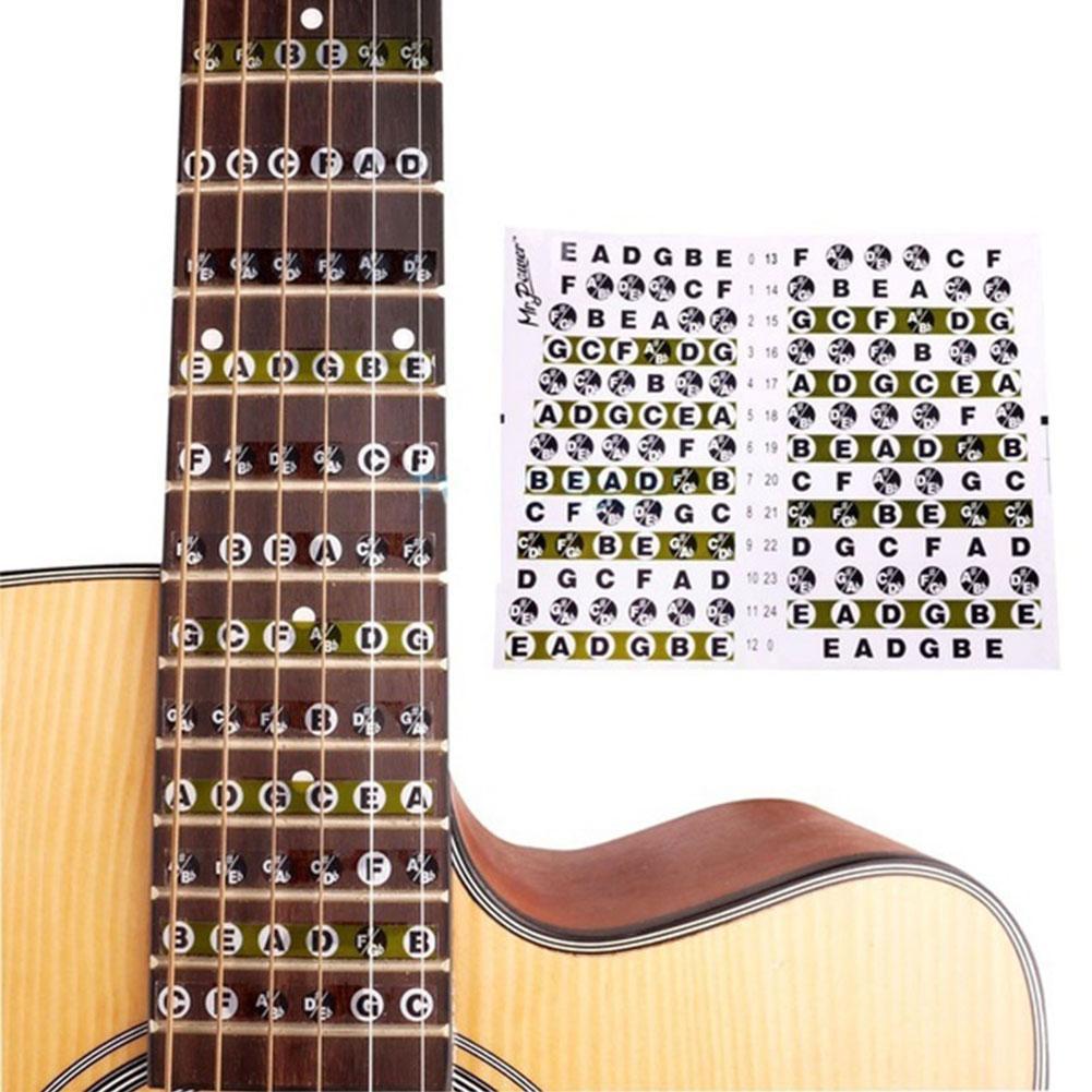 Hot Sale Portable Guitar Fretboard Note Sticker Musical Scale Fingerboard Beginner Scales Stickers