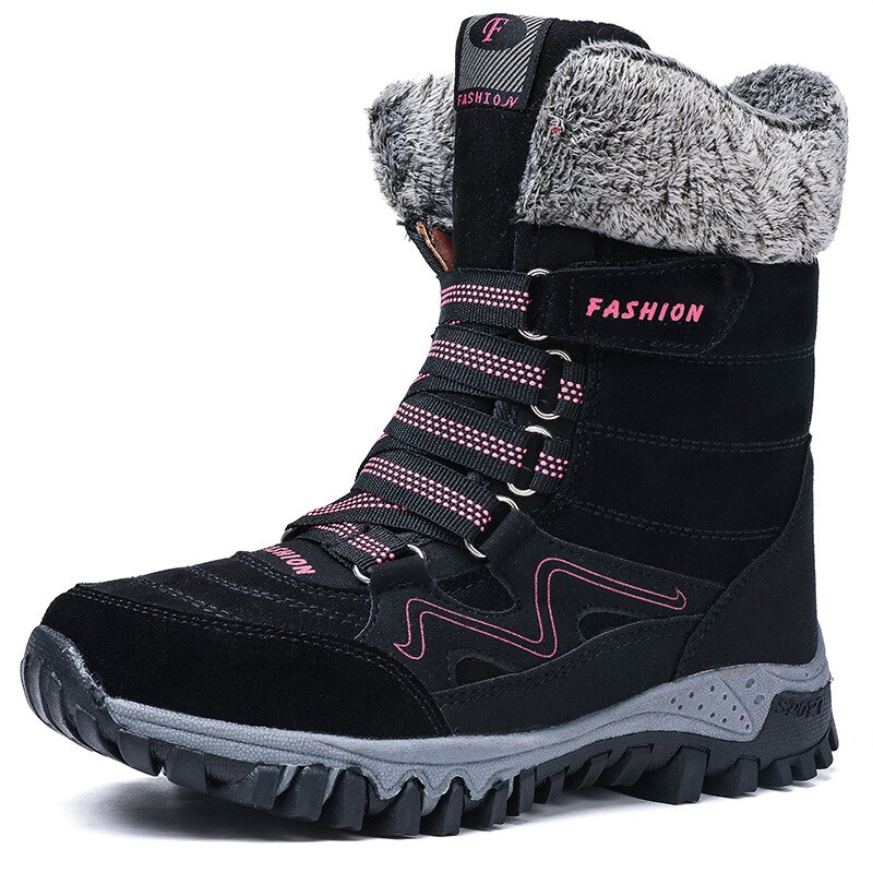 Snow Boots 2021 Winter new high-gang plush non-slip cotton boots hardy boots large size women's shoes