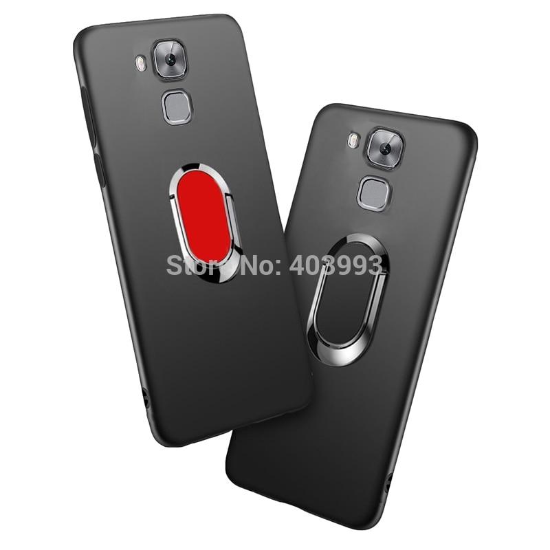 Coque Huawei Honor 7 Lite CaseFinger imán de anillo mate Protector de teléfono para Huawei Honor 5C GT3 NEM-L51 NEM-L21 NMO l31