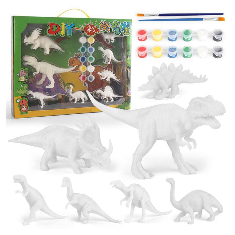 Bricolage coloriage peinture Animal dinosaure modèle dessin aquarelle Graffiti enfants enfants jouets