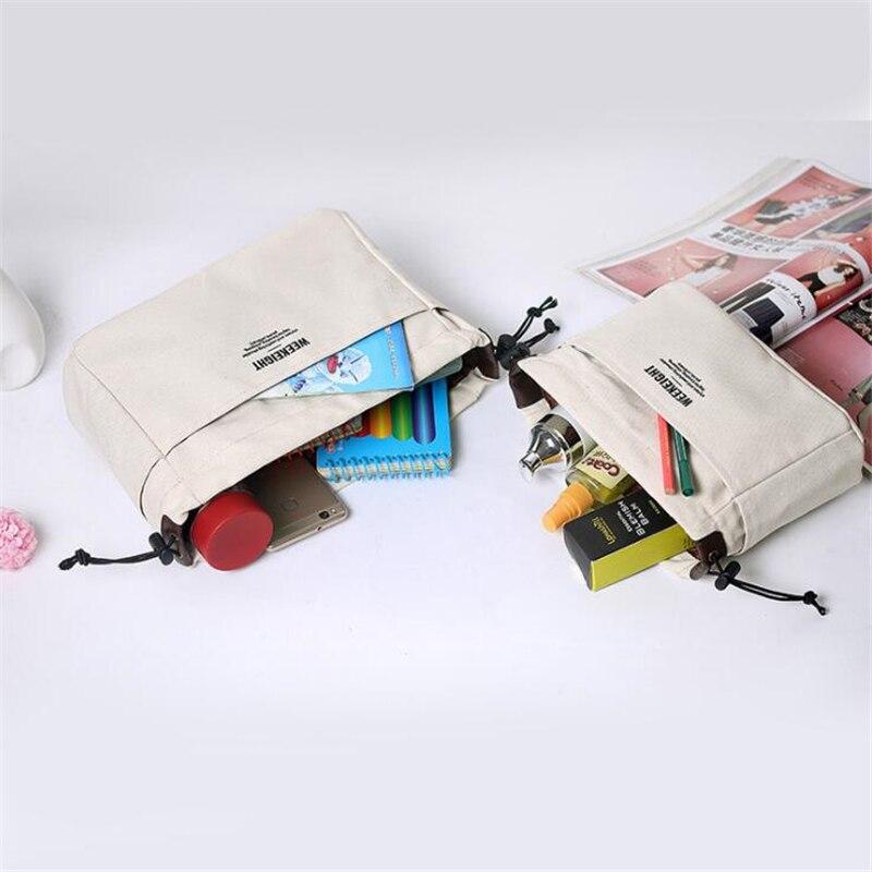 Холщовый органайзер для кошельков, сумка-Органайзер с отсеками, макияжа,