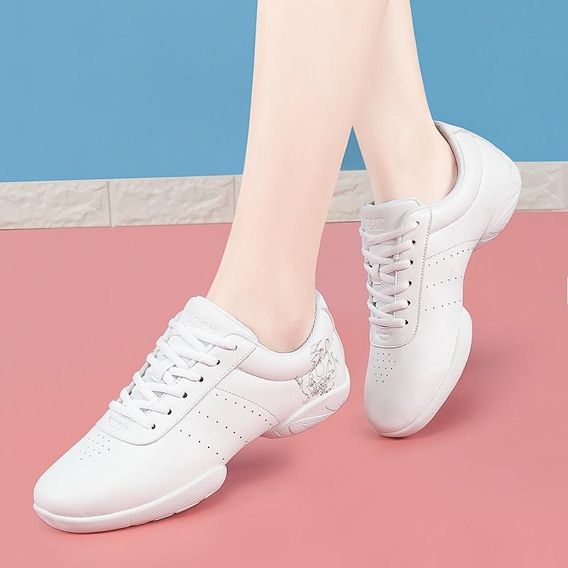 Aerobics Dance Shoes Women's Sneakers White Professional Training Gym Sports Shoe Girls Dancing Ladi