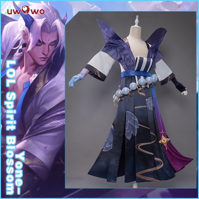 UWOWO Yone Spirit Blossom LOL Cosplay Costume Game League of Legends Costumes Hot Halloween Costume